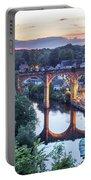 Knaresborough Viaduct Floodlit At Dusk Portable Battery Charger