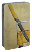 Knife In Glass - After Diebenkorn Portable Battery Charger