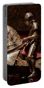 Knight And Horse In Armor Portable Battery Charger