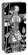 Knight Of Arthur, Preparing To Go Into Battle Portable Battery Charger