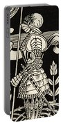 Knight Of Arthur, Preparing To Go Into Battle, Illustration From Le Morte D'arthur By Thomas Malory Portable Battery Charger