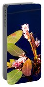 Knotweed On Deep Blue Portable Battery Charger