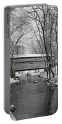 Knox Valley Forge Covered Bridge In Winter Portable Battery Charger