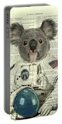 Koala In Space Illustration Portable Battery Charger