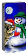 Koala With Snowman Portable Battery Charger