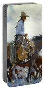 Koerner: Cowboy, 1920 Portable Battery Charger