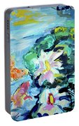 Koi Fish And Water Lilies Portable Battery Charger
