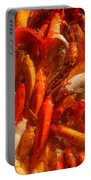 Koi Fishes In Feeding Frenzy Portable Battery Charger