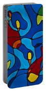 Koi Fish Portable Battery Charger by Sharon Cummings