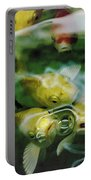 Koi  Portable Battery Charger by Jeff Swan