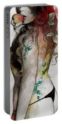 Koi No Yokan - Erotic Drawing, Sexy Tattoo Girl In Thong Biting An Apple Portable Battery Charger