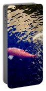Koi On Blue And Gold Portable Battery Charger