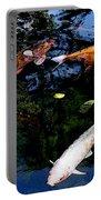 Koi Swimming - Dsc00023 Portable Battery Charger