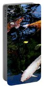 Koi Swimming - Dsc00023 Portable Battery Charger