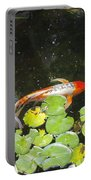 Koi With Lily Pads B Portable Battery Charger