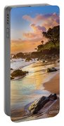 Koki Beach Sunrise Portable Battery Charger by Inge Johnsson