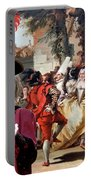 Komondor Art Canvas Print - The Carnival Dance Portable Battery Charger