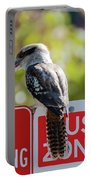 Kookaburra On A Road Sign Portable Battery Charger