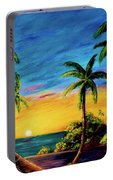 Ko'olina Sunset On The West Side Of Oahu Hawaii #299 Portable Battery Charger