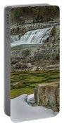 Kootenai Falls In Winter Portable Battery Charger