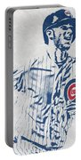 kris bryant CHICAGO CUBS PIXEL ART 2 Portable Battery Charger