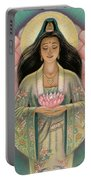 Kuan Yin Pink Lotus Heart Portable Battery Charger