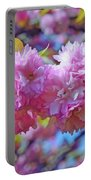 Kwanzan Cherry Blossoms Portable Battery Charger