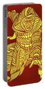 Kylo Ren - Star Wars Art - Red And Yellow Portable Battery Charger