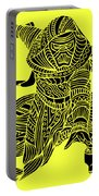 Kylo Ren - Star Wars Art - Yellow Portable Battery Charger