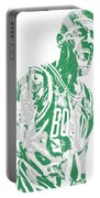 Kyrie Irving Boston Celtics Pixel Art 42 Portable Battery Charger