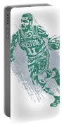 Kyrie Irving Boston Celtics Water Color Art 2 Portable Battery Charger