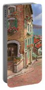 La Discesa Al Mare Portable Battery Charger by Guido Borelli