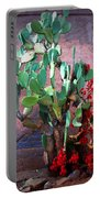 La Hacienda In Old Tuscon Az Portable Battery Charger by Susanne Van Hulst