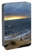 La Jolla Shores Beach Panorama Portable Battery Charger