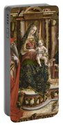 La Madonna Della Rondine The Madonna Of The Swallow Portable Battery Charger