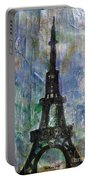 La Tour Eiffel By Taikan Portable Battery Charger