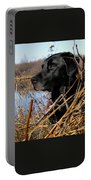 Labrador Retriever Waiting In Blind Portable Battery Charger