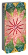 Lacey Petals Mandala Portable Battery Charger by Andrea Thompson