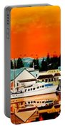 Laconner Last Water Front Panel Painting Portable Battery Charger