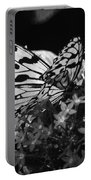 Lacy Black And White Portable Battery Charger