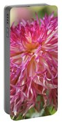 Lacy Dahlia Macro Portable Battery Charger