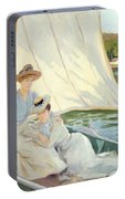 Ladies In A Sailing Boat  Portable Battery Charger