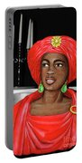 Lady At The Candelabra Portable Battery Charger