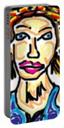 Lady Doodle #2 Portable Battery Charger
