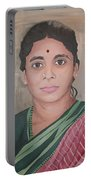 Lady From India Portable Battery Charger