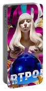 Lady Gaga Graphic Art Portable Battery Charger