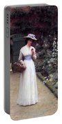 Lady In A Garden Edmund Leighton 1893 Portable Battery Charger