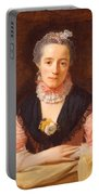 Lady In A Pink Silk Dress Portable Battery Charger