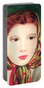 Lady In A Scarf Portable Battery Charger