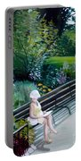 Lady In Central Park Portable Battery Charger